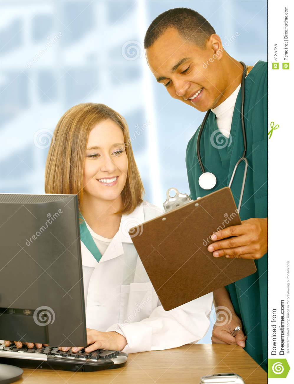 Medical People Checking Report Royalty Free Stock Photo ...