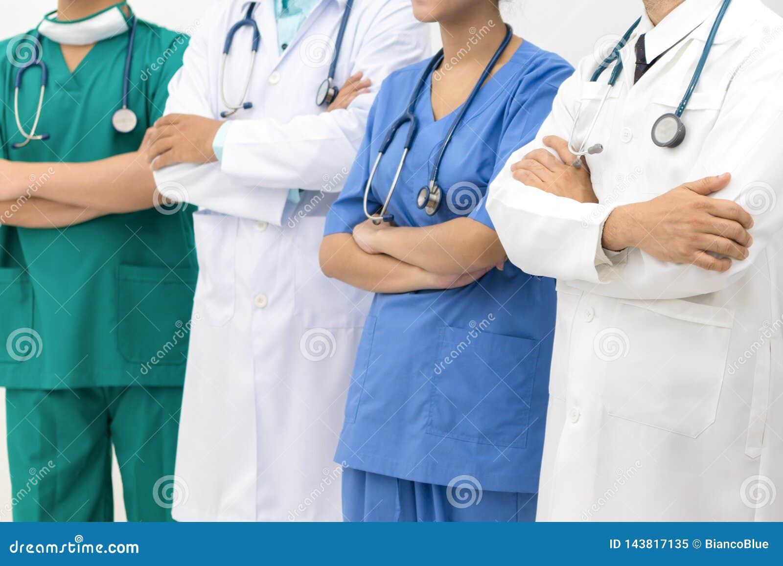 Medical people - doctors, nurse and surgeon