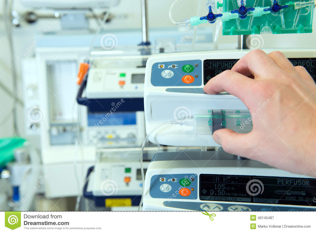 Medical Perfusion Pump Stock Image Image Of Drug Instrument 40145487