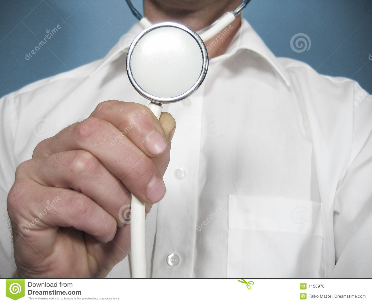 Medical Person Holds a Stethoscope