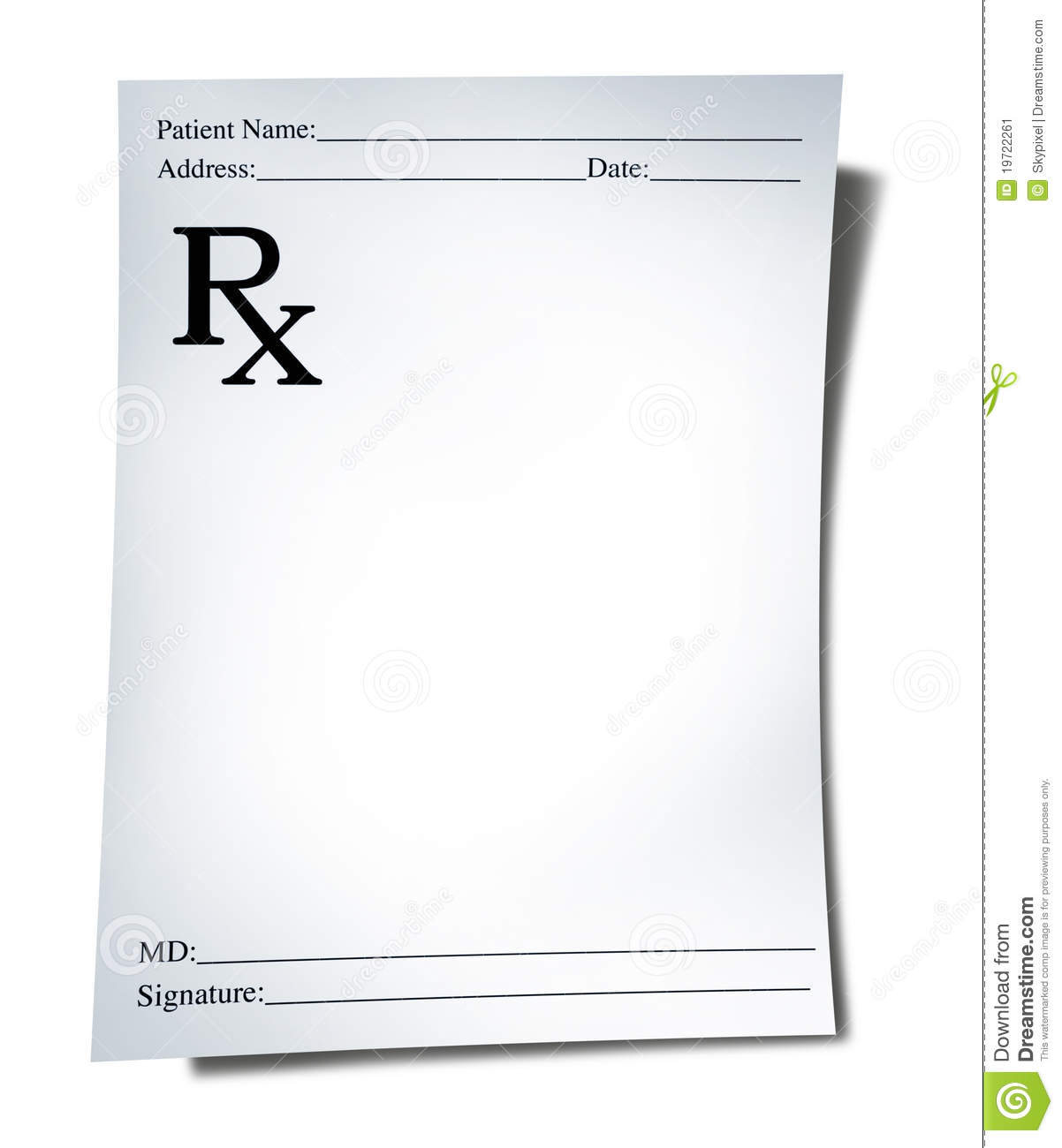 Medical Prescription Stock Illustration Illustration Of