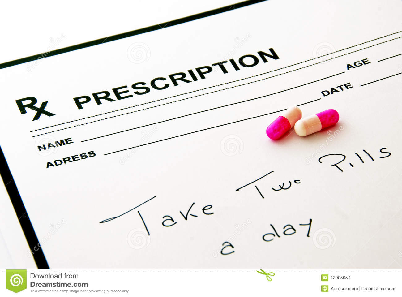 Medical Prescription Pad And Pills Stock Photo - Image of ...