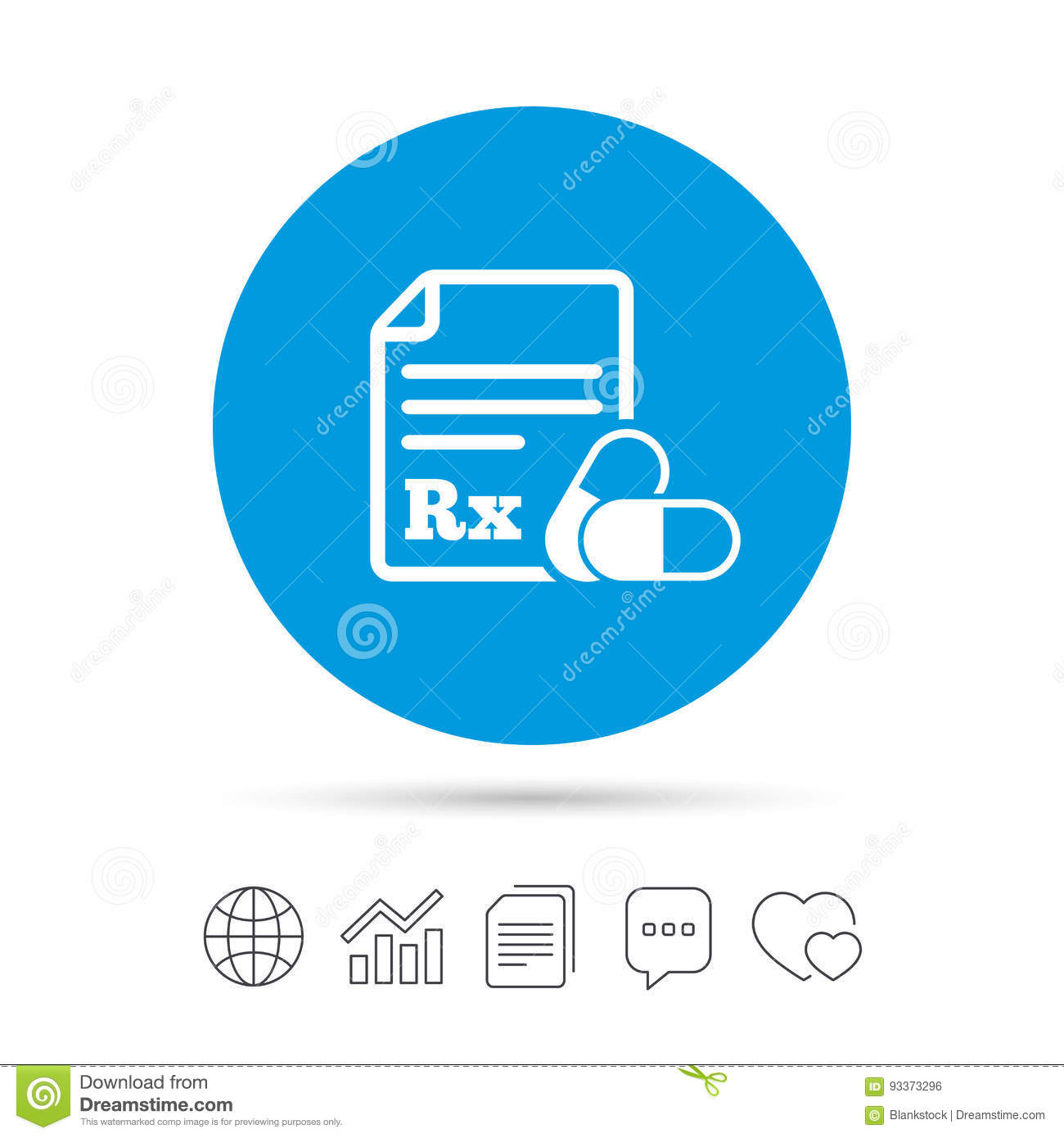 Medical prescription rx sign icon pharmacy stock vector medical prescription rx sign icon pharmacy buycottarizona