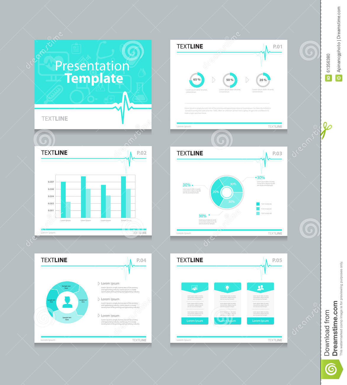 medical presentation slides template graphs and charts
