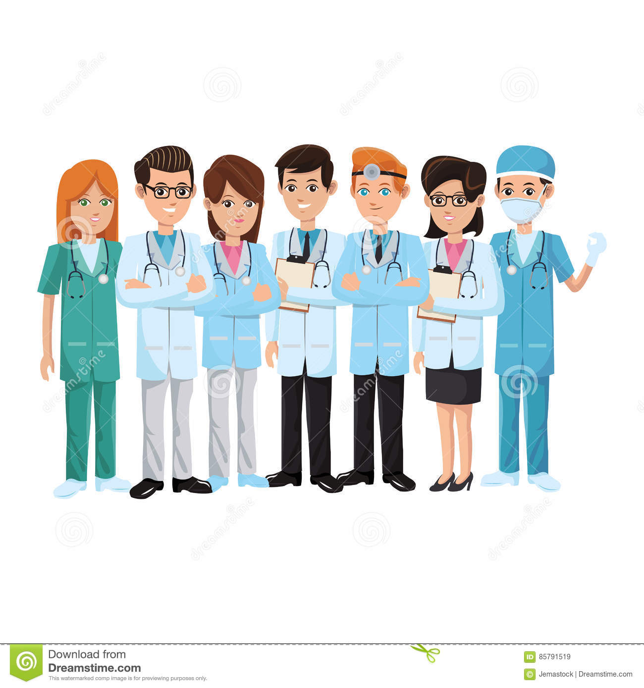 Group Of Doctors Clipart Medical Professionals ...