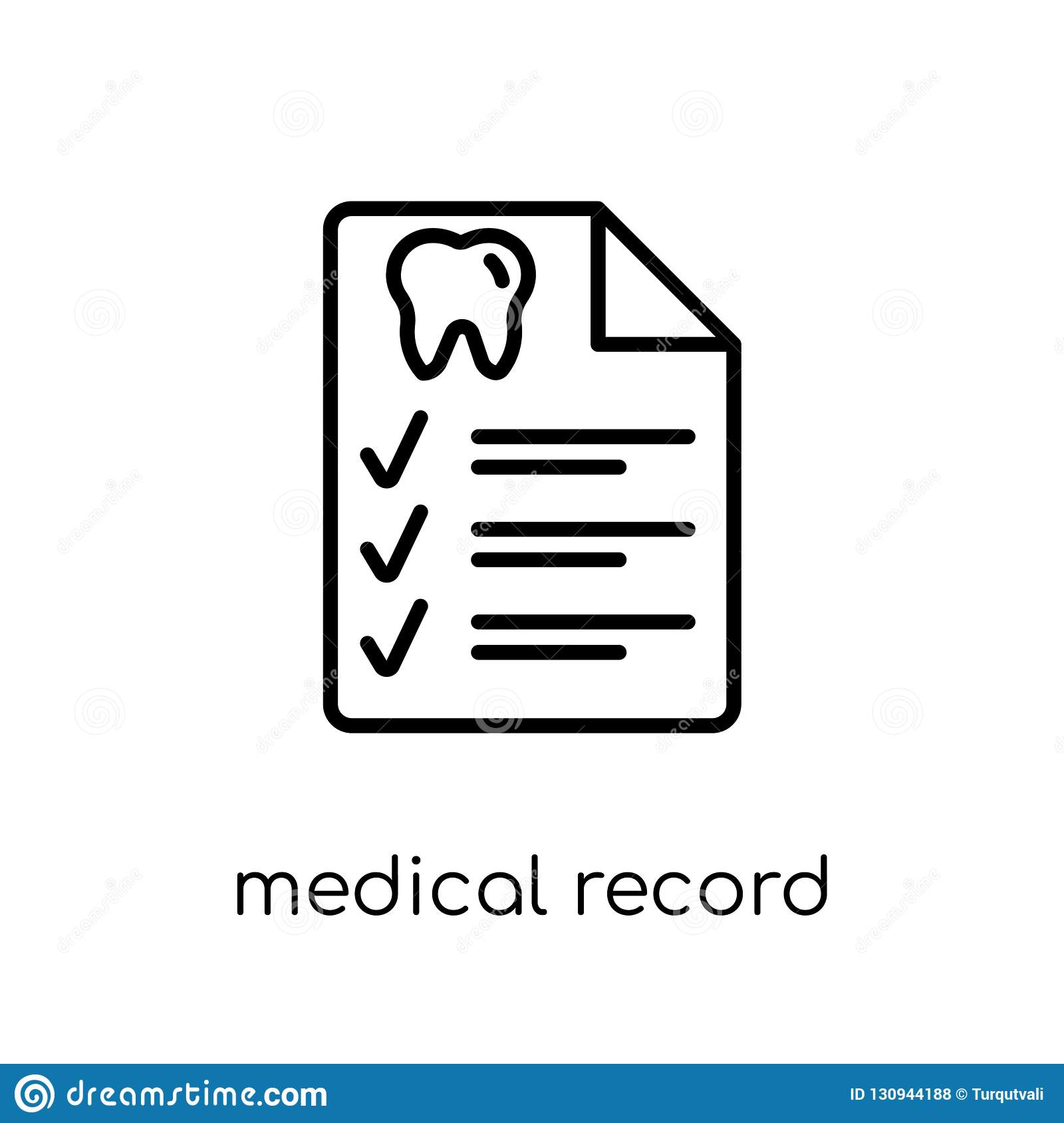 Medical record icon. Trendy modern flat linear vector Medical re
