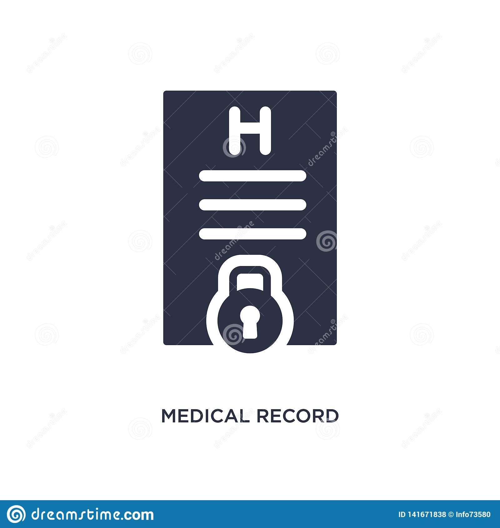 medical record icon on white background. Simple element illustration from gdpr concept
