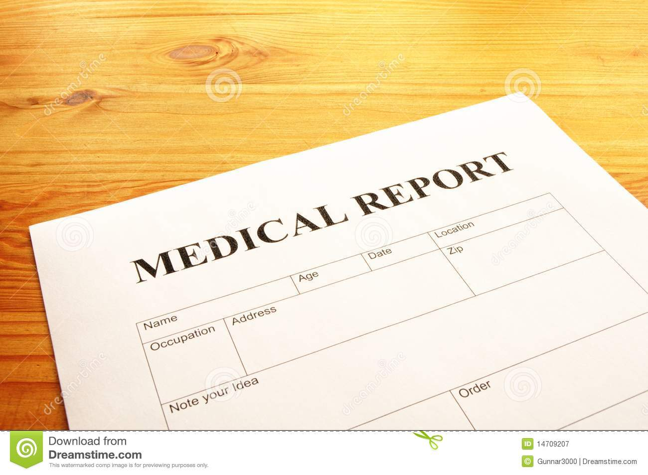 Medical report stock image  Image of emergency, clinic
