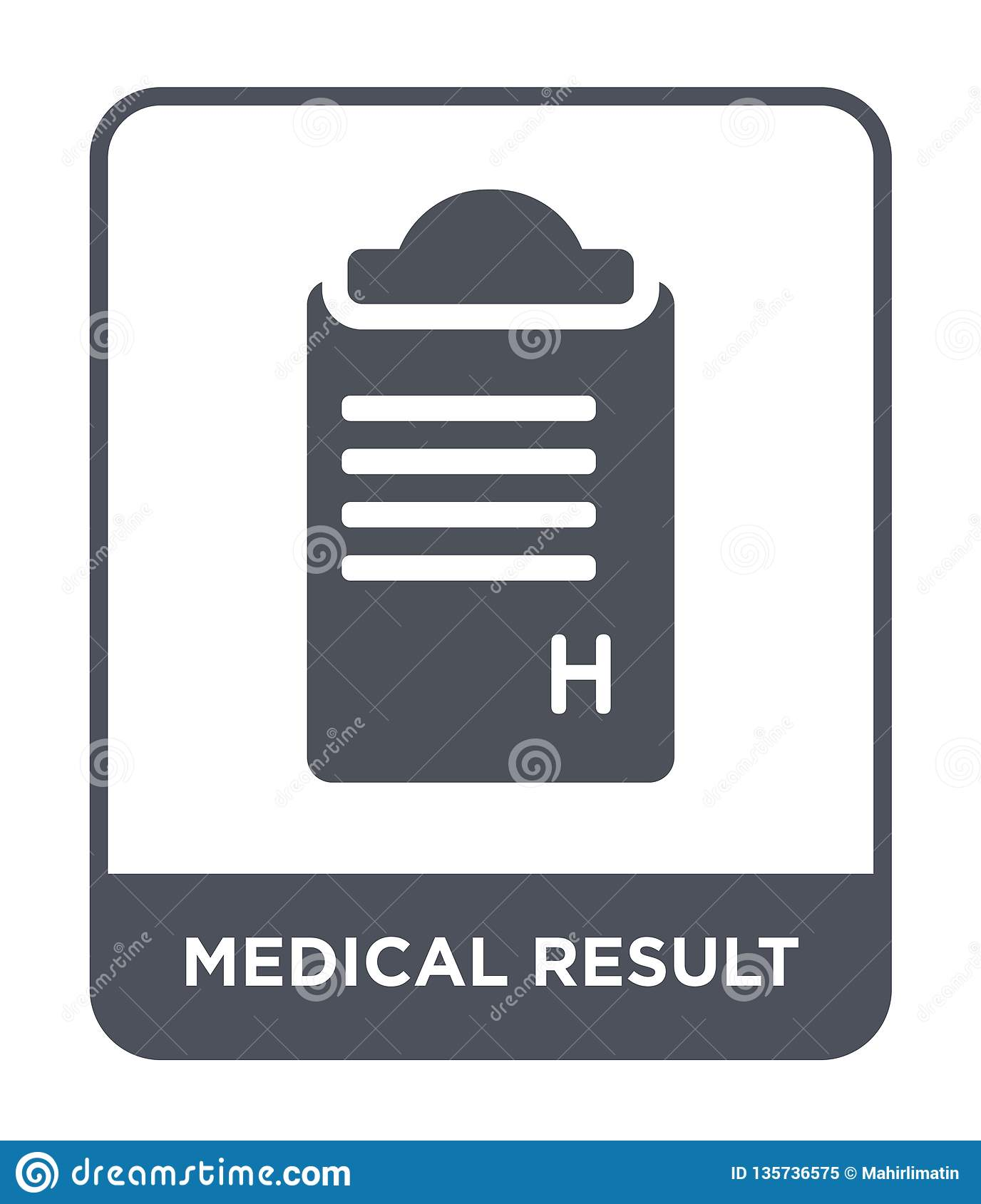 medical result icon in trendy design style. medical result icon isolated on white background. medical result vector icon simple