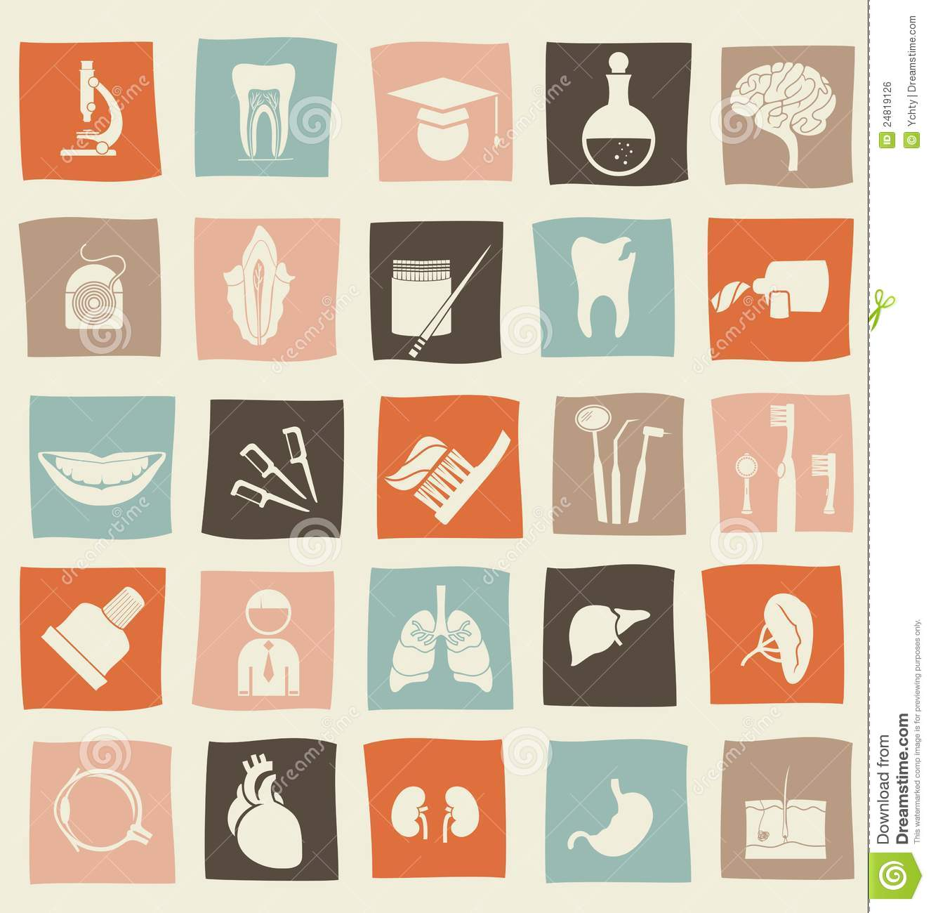 Medical, Science And Anatomical Icons In Vector Stock Vector ...