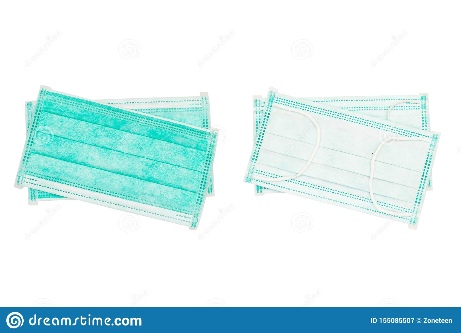 green surgical mask