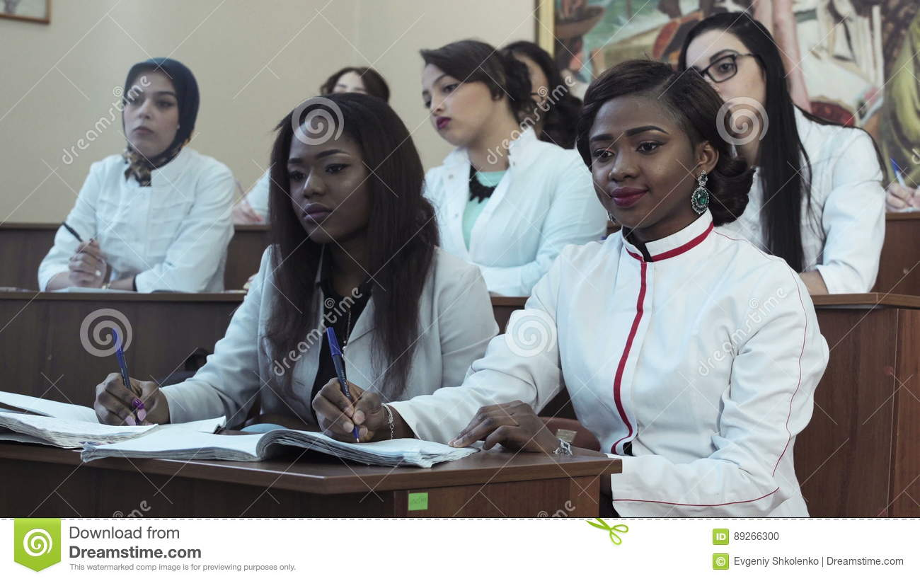 Medical Students In Lecture Stock Footage - Video of adults, african ...
