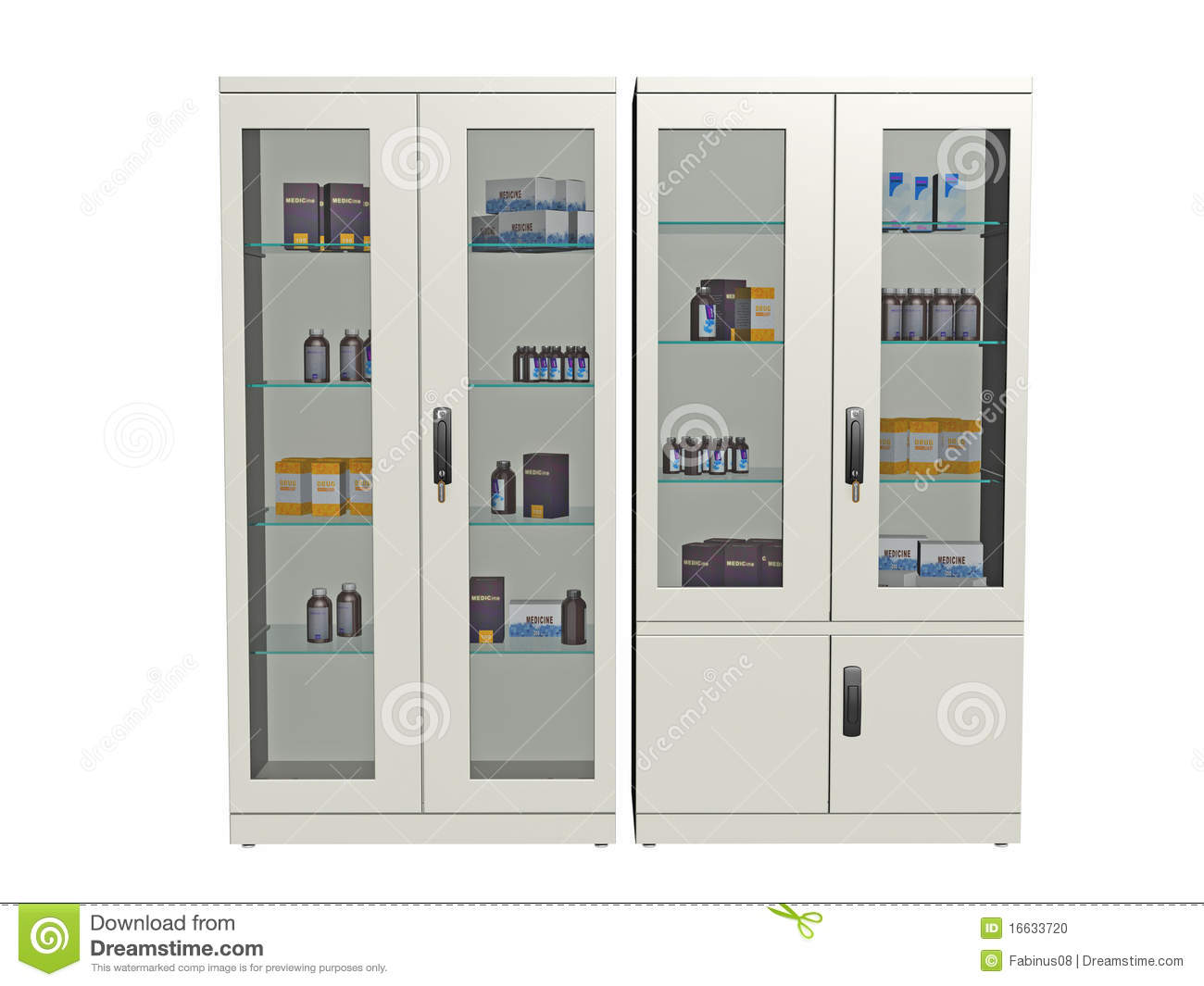 Medical Supply Cabinet Stock Photo Image Of Stored Doors