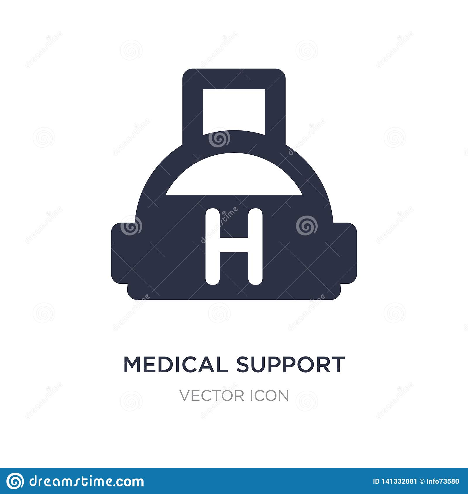 medical support icon on white background. Simple element illustration from Alert concept