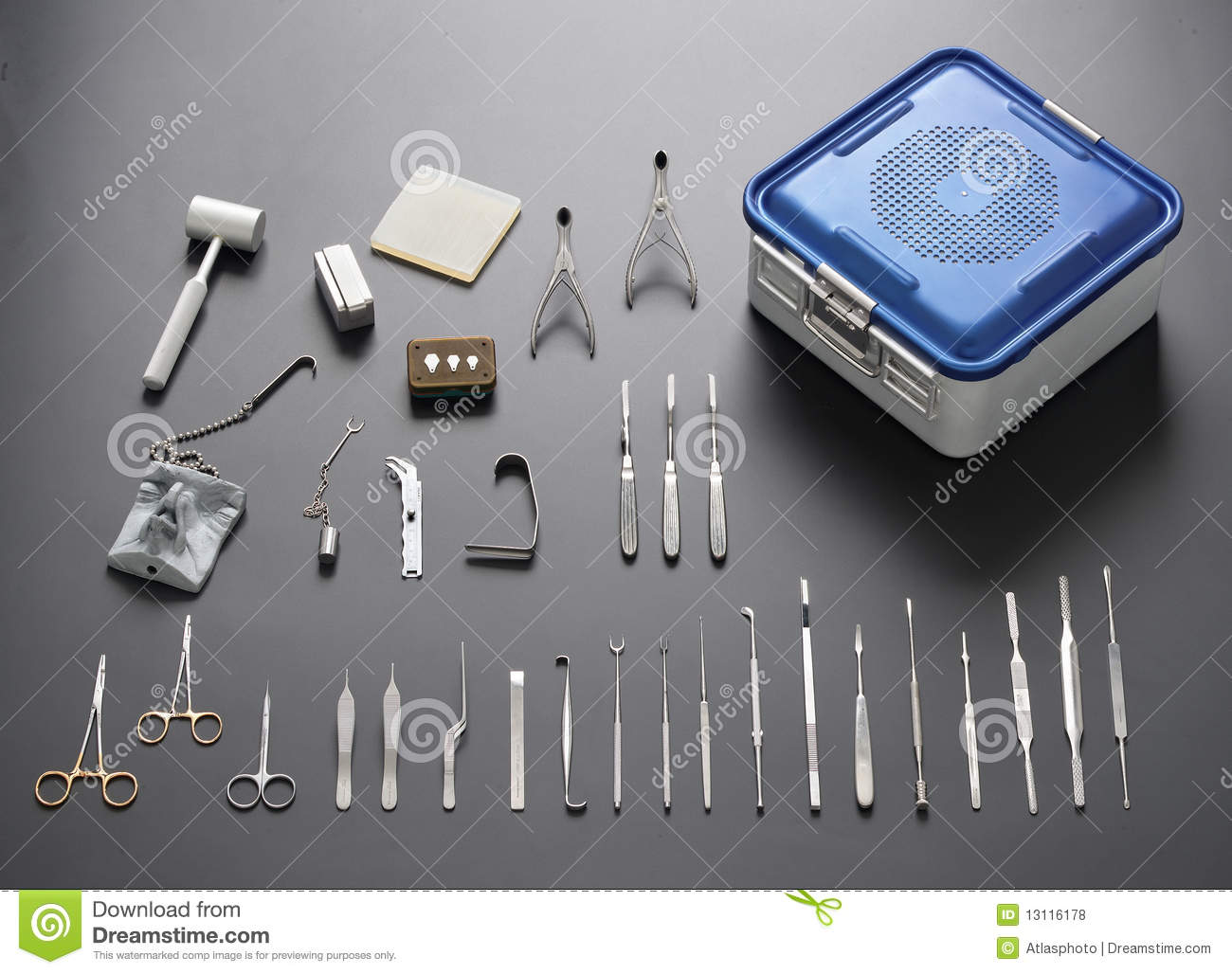 Medical And Surgical Stainless Steel Tool Set Royalty Free