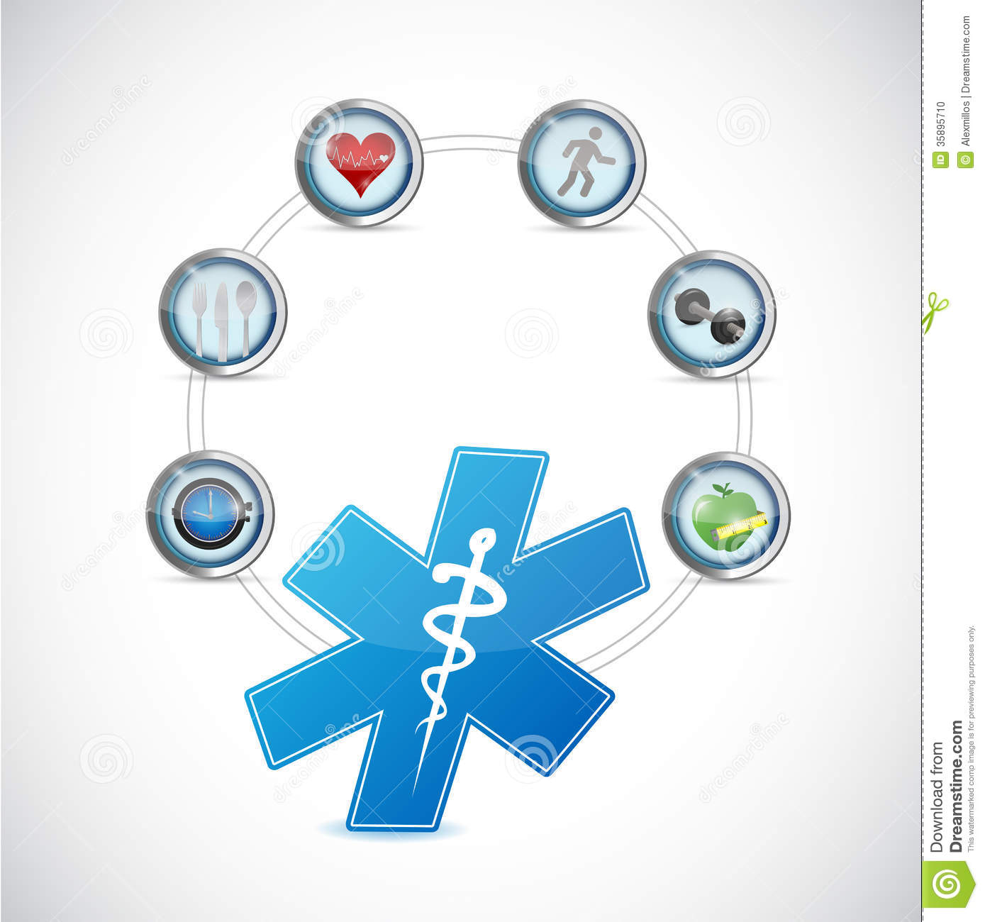 Medical Symbol Health Care Diagram Illustration Stock