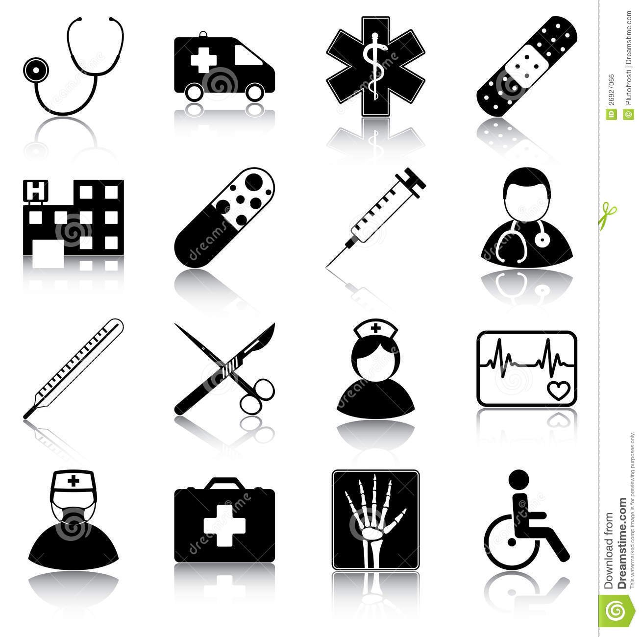 Medical Symbols Royalty Free Stock Image - Image: 26927066