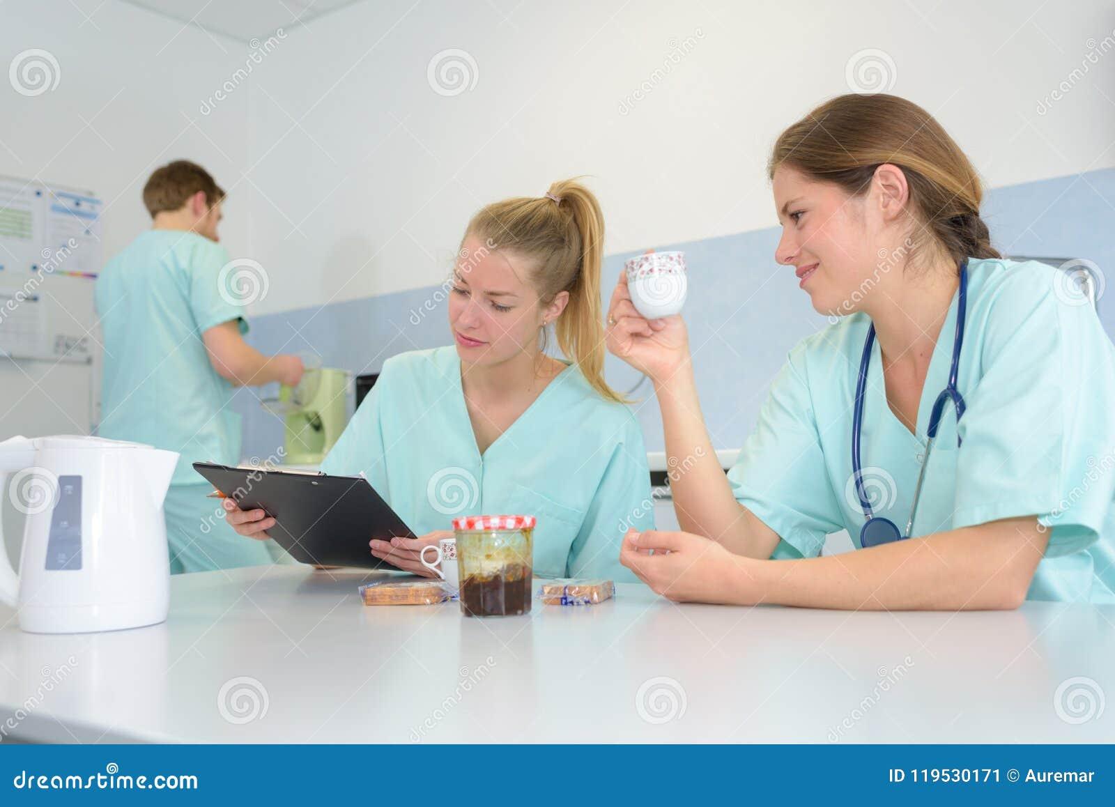 Take Break Coffeebreak : Medical team taking coffee break stock image image of marble