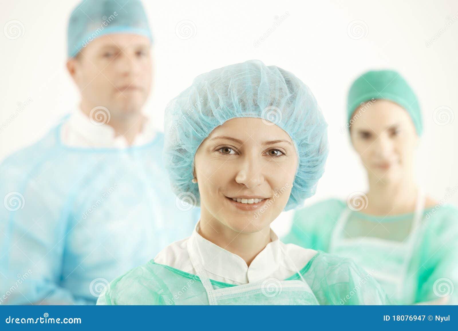 Medical team in uniform
