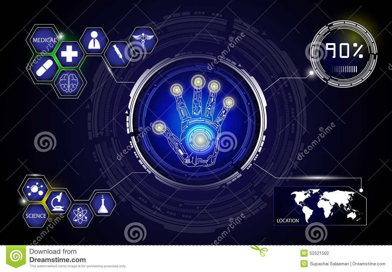 Medical Technology And Science Background Stock Vector ...