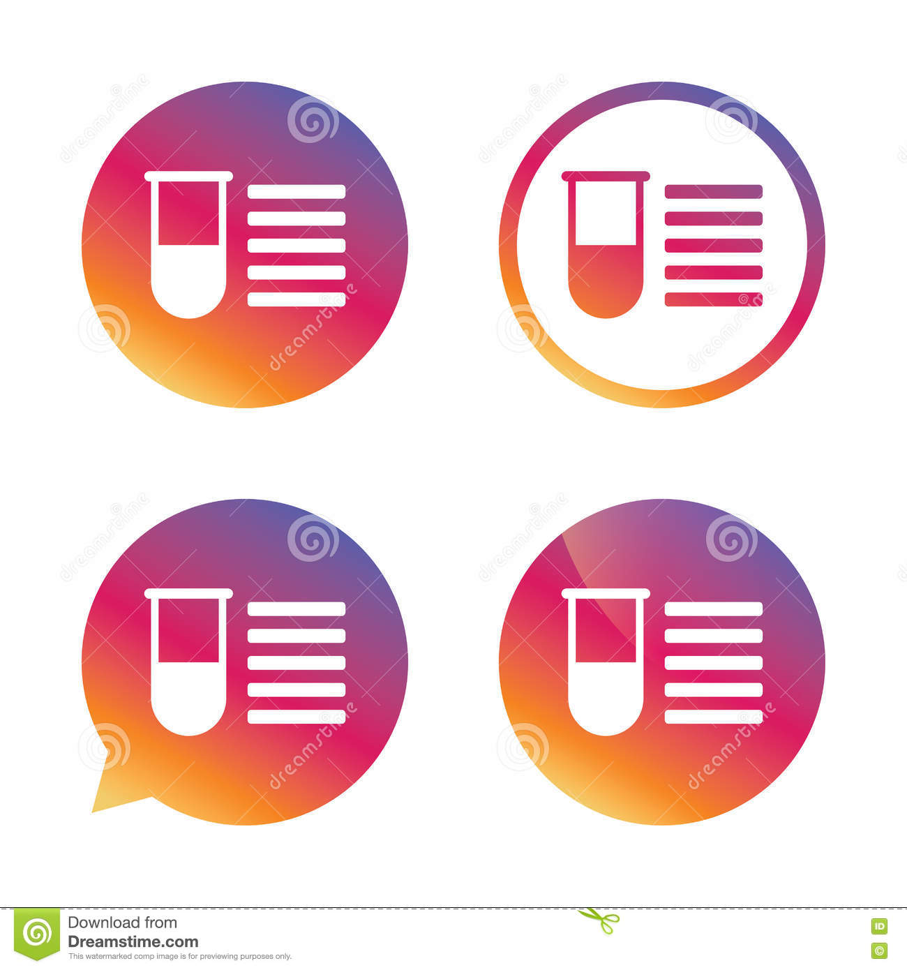 download medical test tube sign icon lab equipment stock vector illustration of science