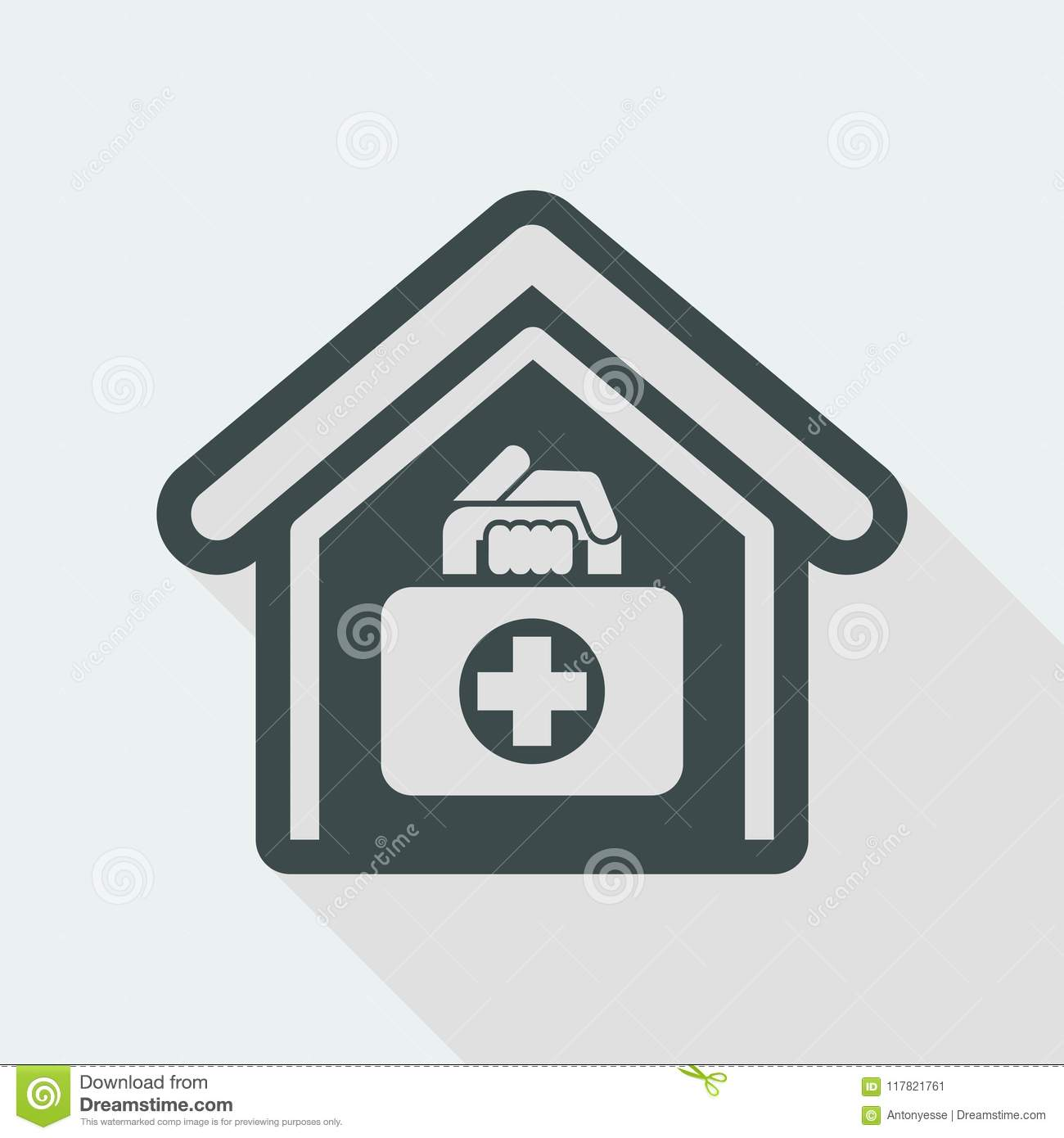 Medical to domicile stock vector. Illustration of clinic - 10