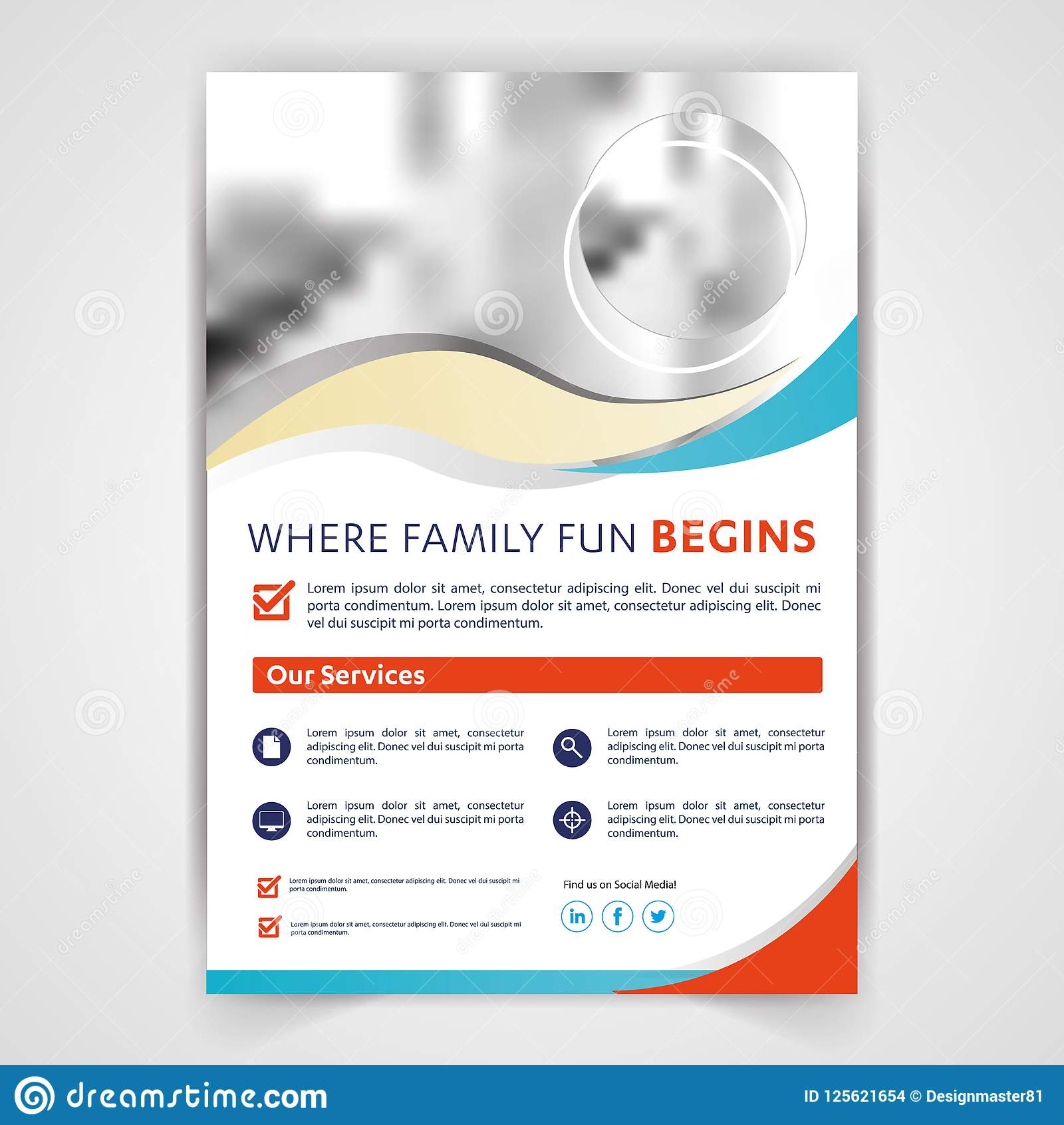 medical travel tourism real estate flyer brochure template design
