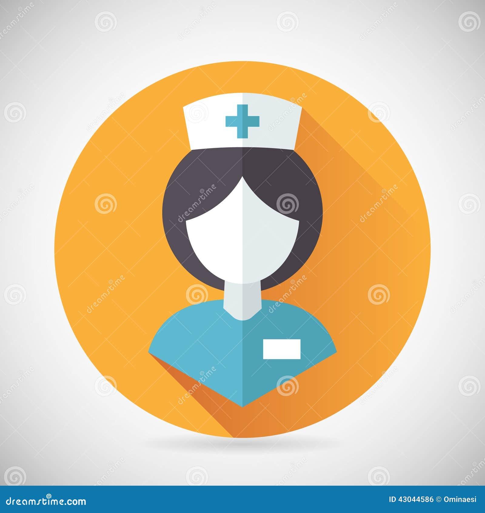 Medical Treatment Nurse Symbol Female Physician Stock