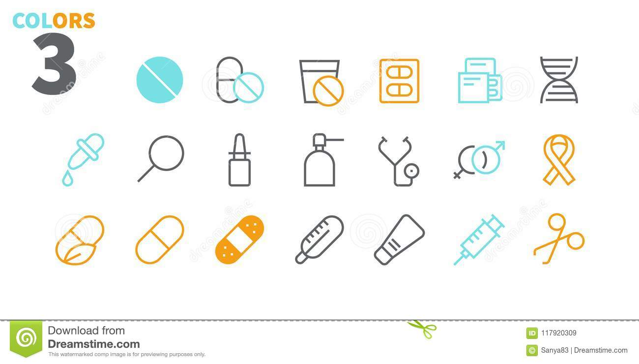 Medical UI Pixel Perfect Well-crafted Vector Thin Line Icons