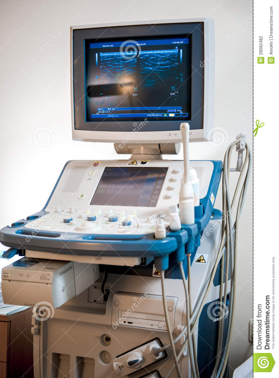 medical ultrasonography machine stock photography