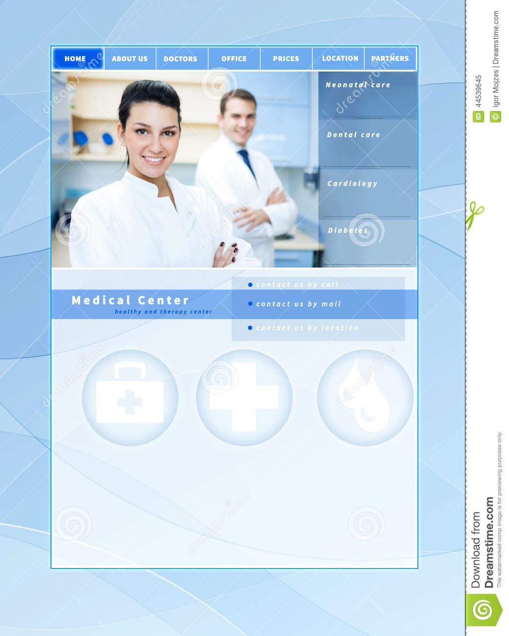 Medical website template stock image. Image of business - 44539645