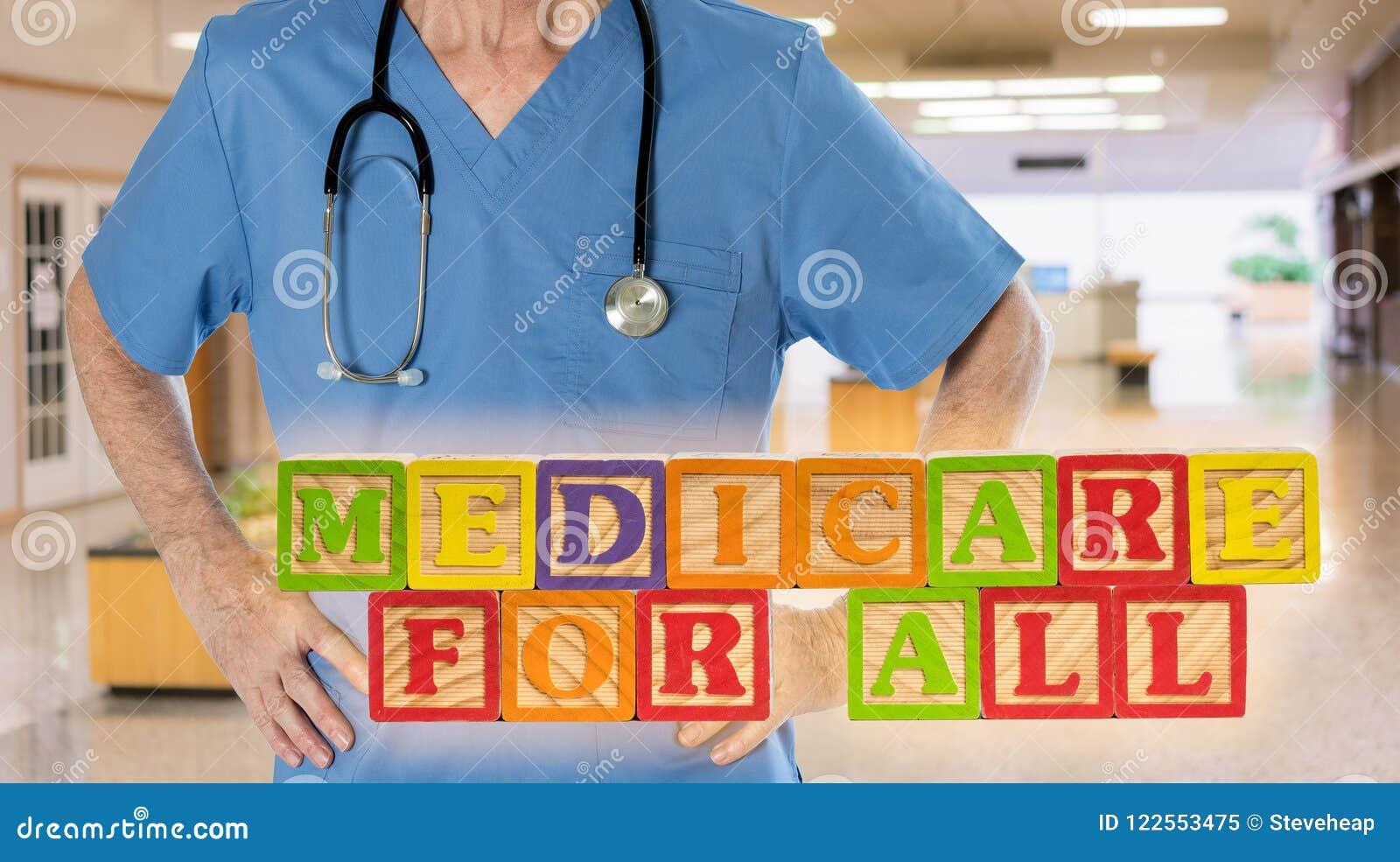 Medicare για όλο το μήνυμα που χτίζεται από τους ξύλινους φραγμούς