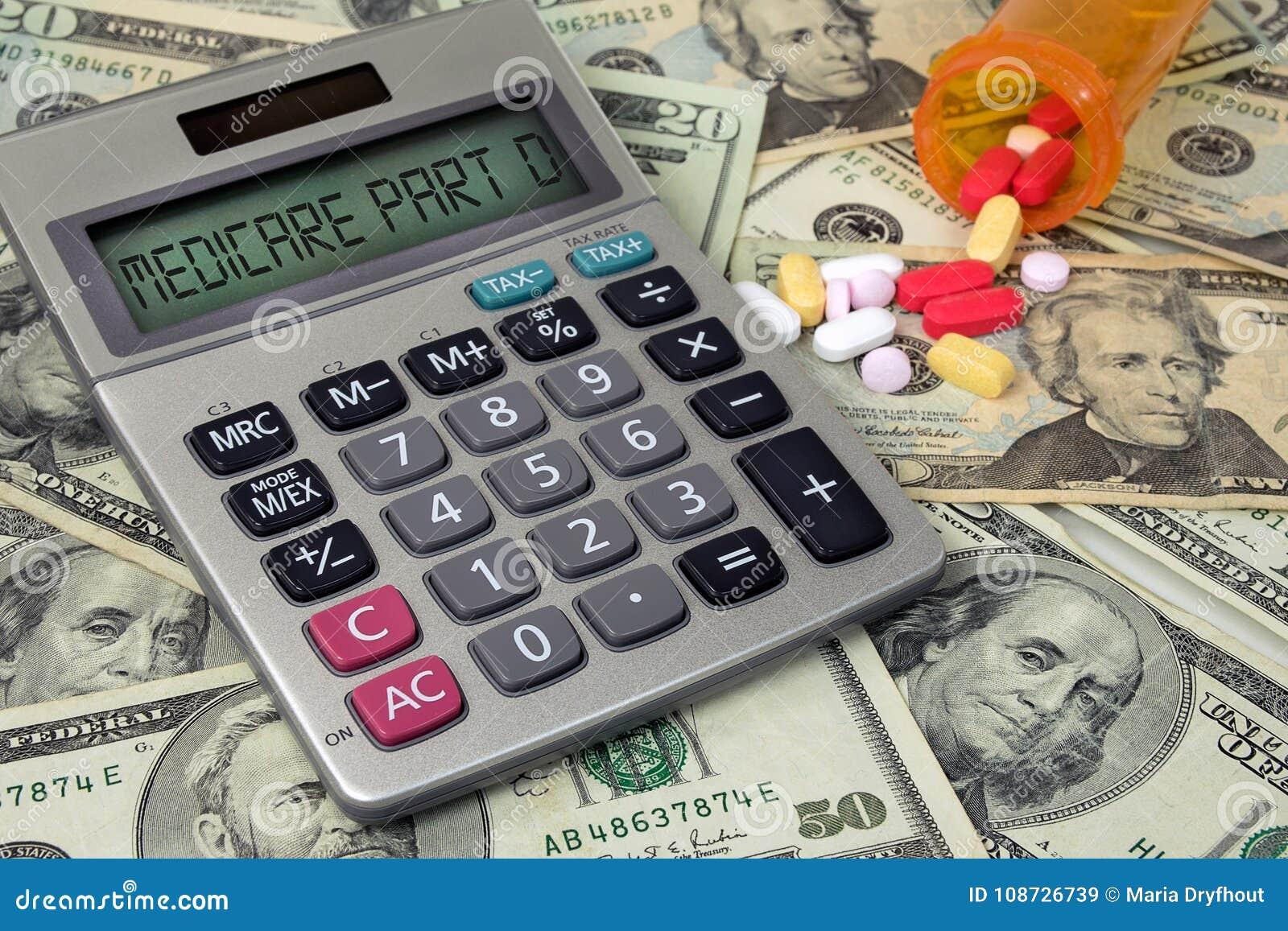 Medicare σημάδι κειμένων Δ μερών στον υπολογιστή