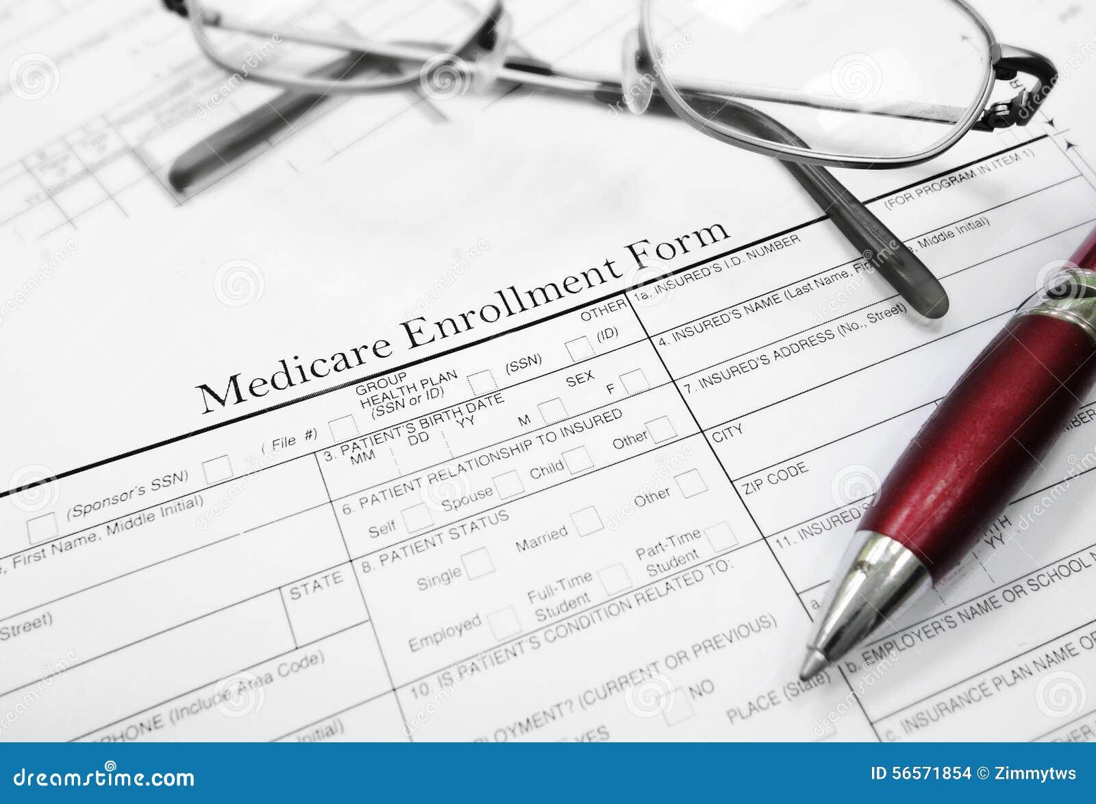 Medicare Enrollment Form Photo Image 56571854 – Enrollment Form