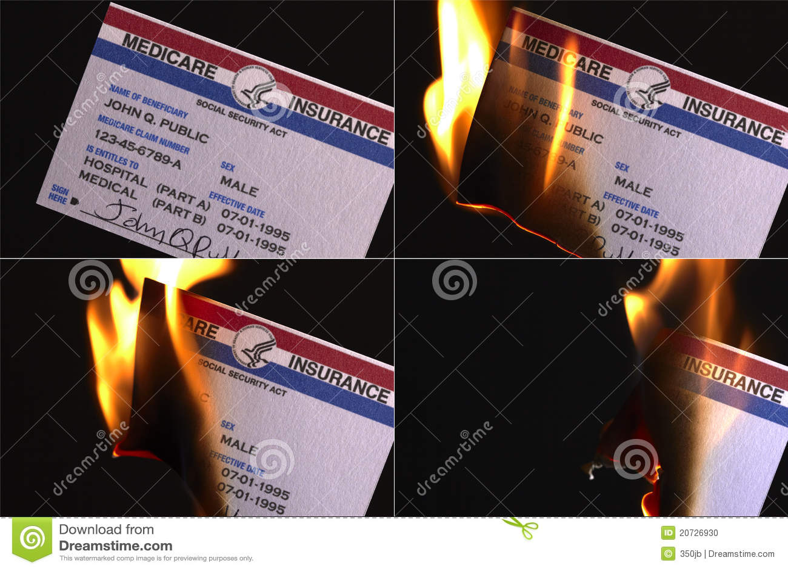 Medicare s καρτών καψίματος ασφαλ&