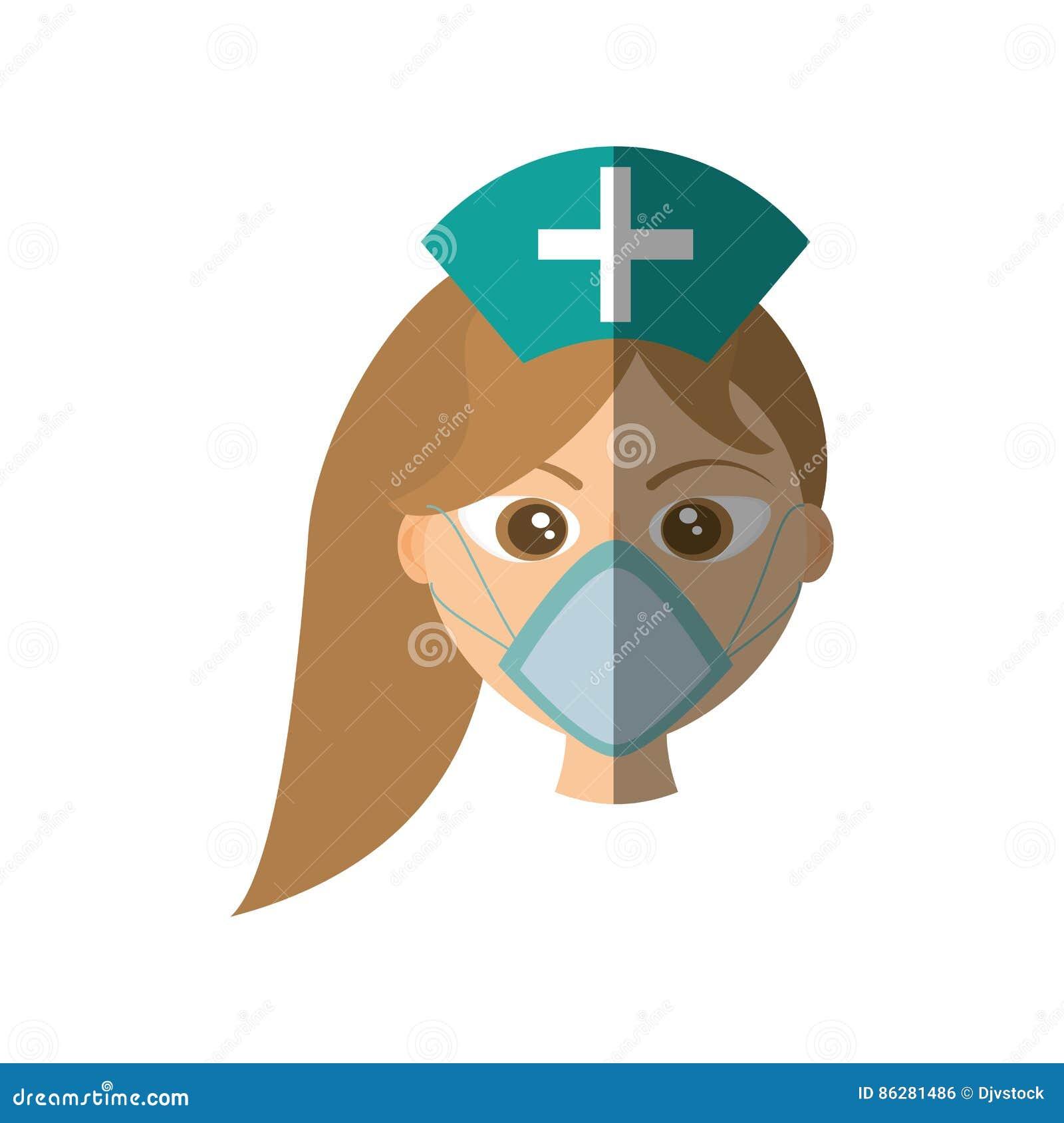 Medicin för stil för kvinnlig maskering för doktor medicinsk