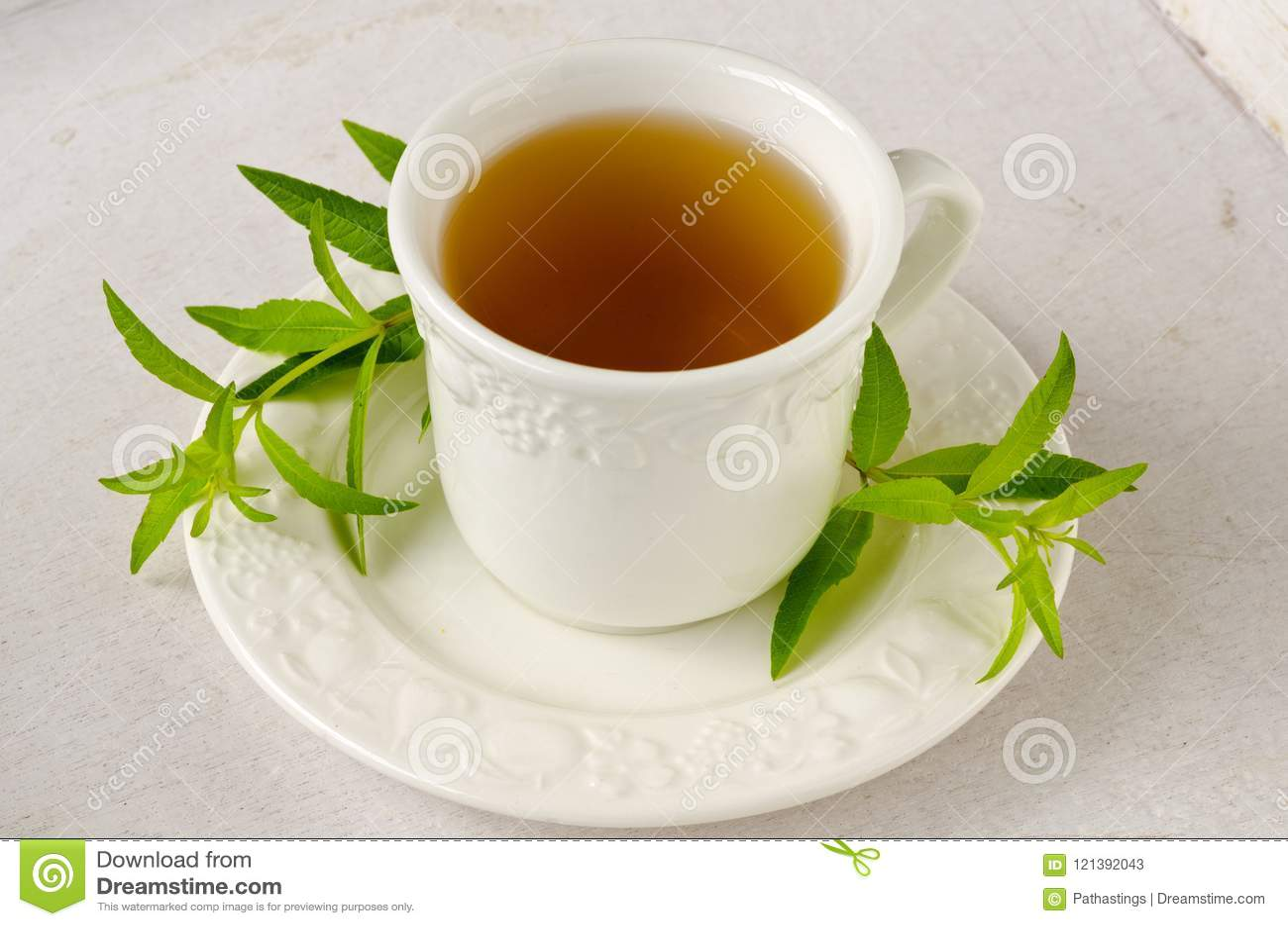 Medicina alternativa Tisana do verbena do limão