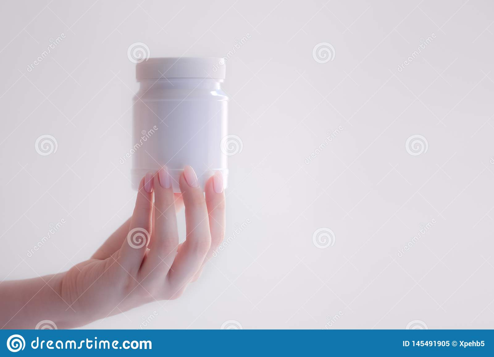 Medicina branca da garrafa