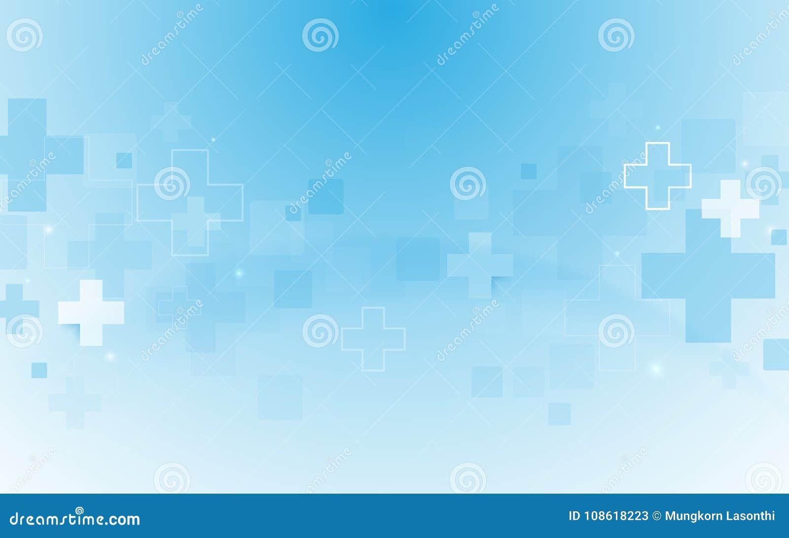 Medicina de la forma y fondo cruzados médicos geométricos abstractos del concepto de la ciencia