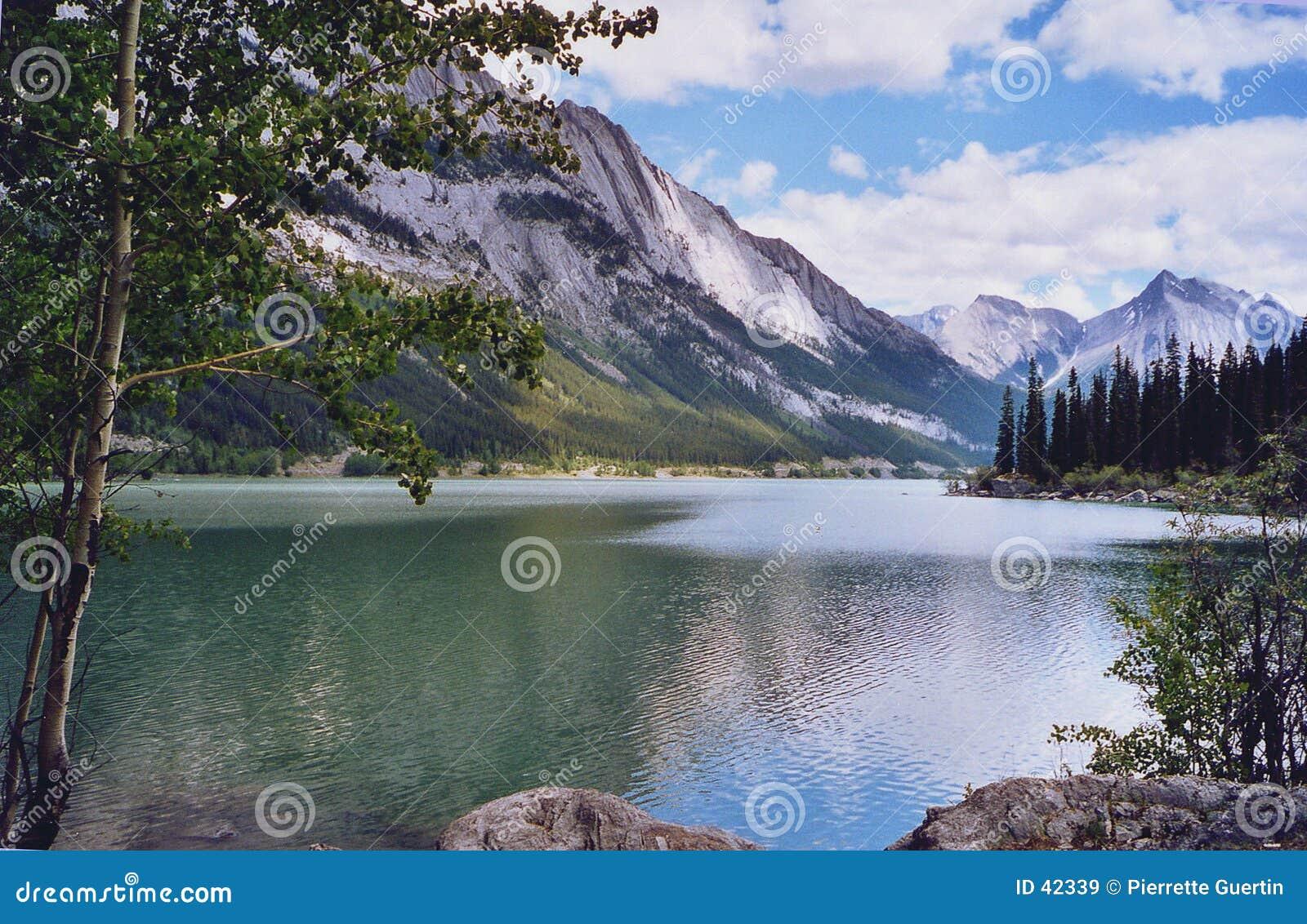 Medicina do lago - montanhas de Montanhas Rochosas
