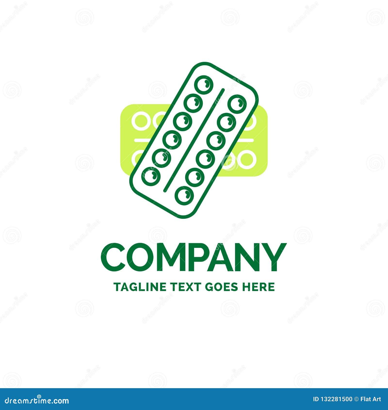 Medicina, píldora, drogas, tableta, templa plano paciente del logotipo del negocio