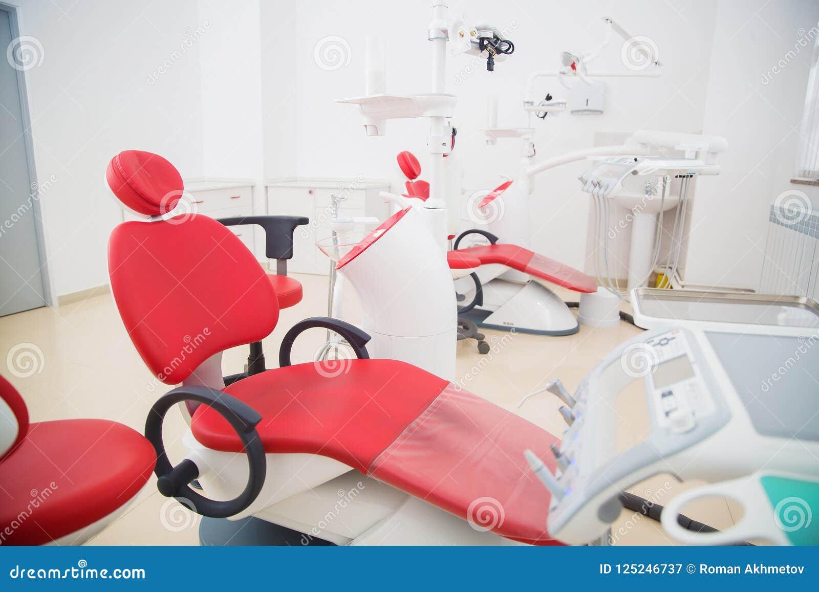 Medicina, stomatology, escritório dental da clínica, equipamento médico para a odontologia