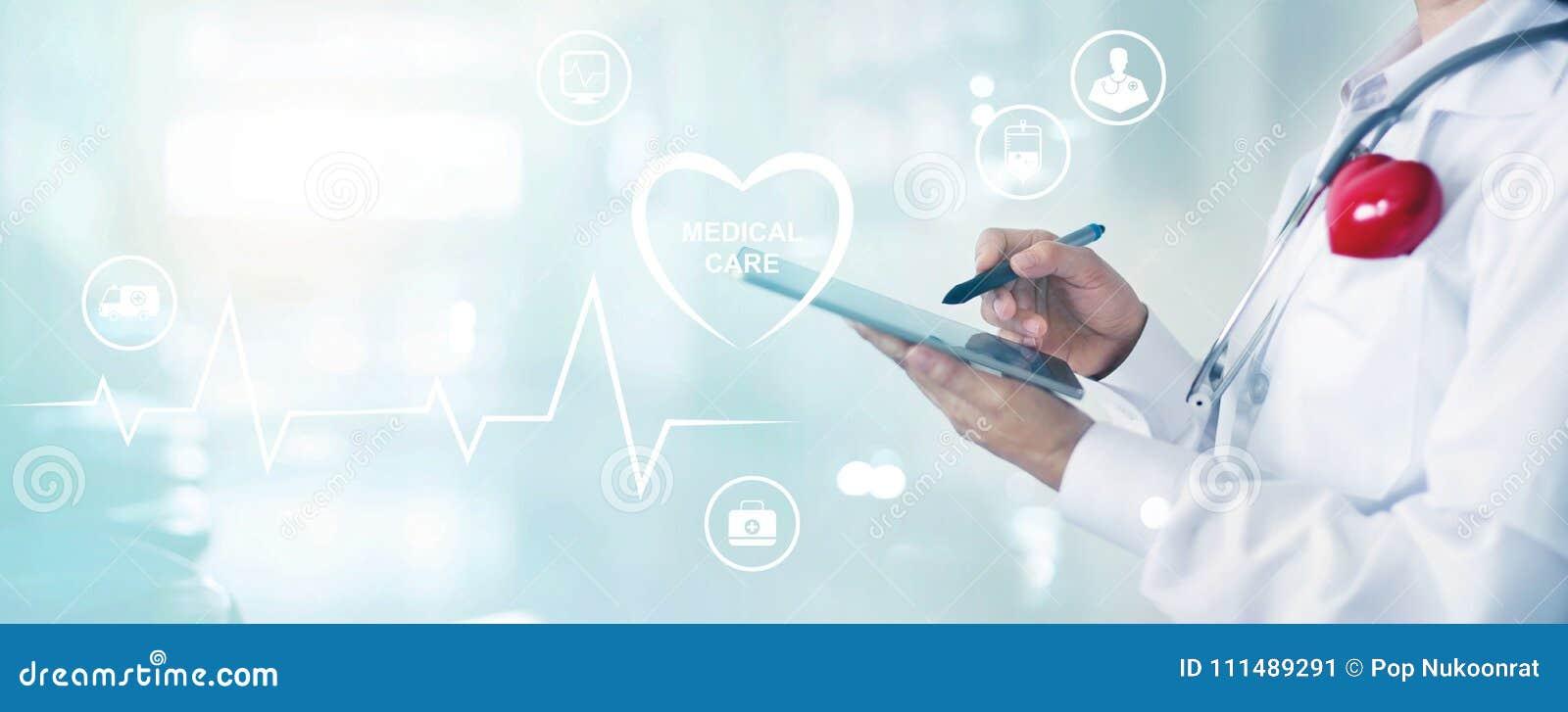 Medicindoktorn med det rörande informationsnätverket om stetoskopet lurar