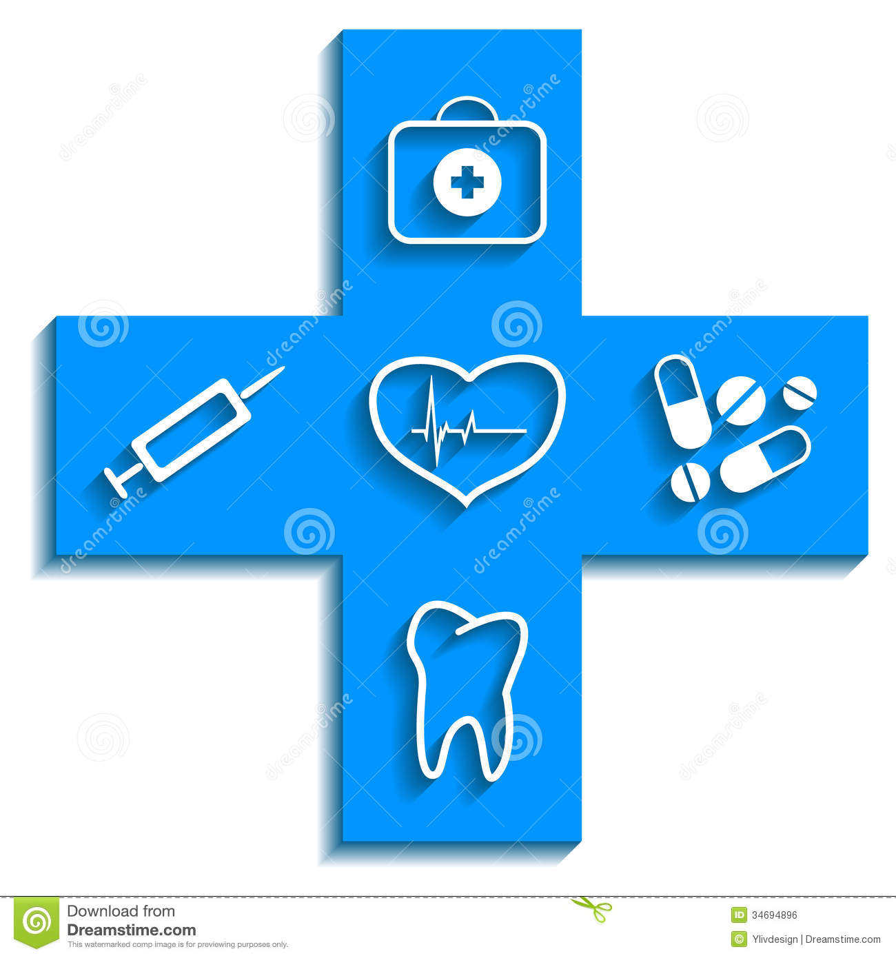 Medicine Blue Icon Royalty Free Stock Image - Image: 34694896