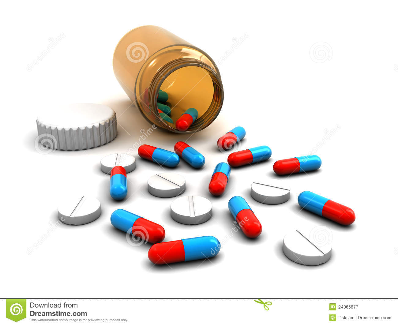 Medicine Bottle With Pills Royalty Free Stock Photography - Image ...