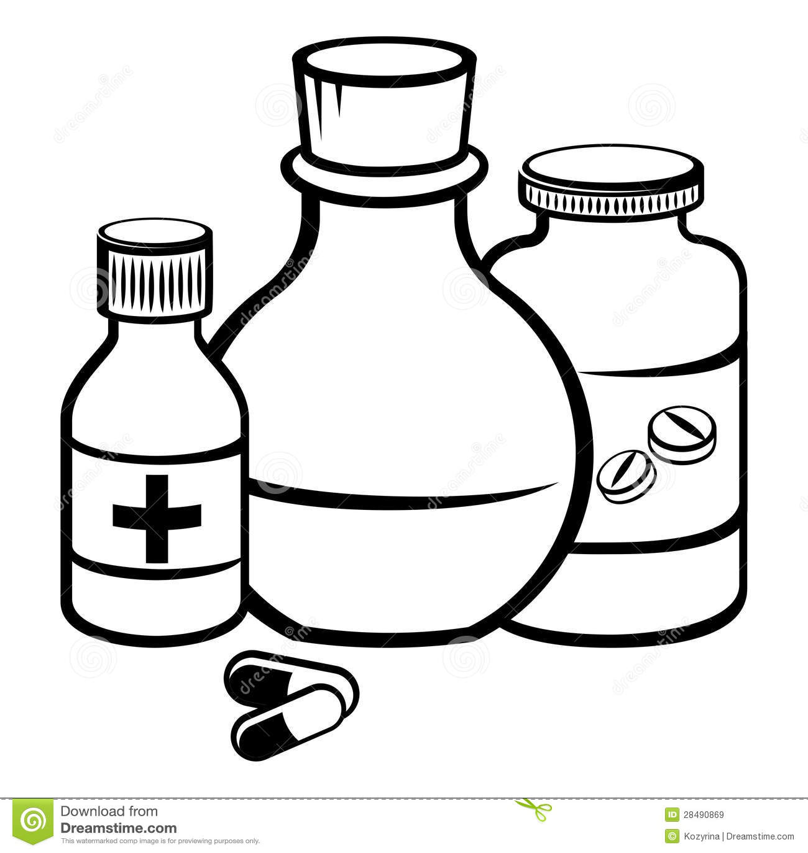 Medicine: Medicine Bottles Stock Vector. Image Of Capsule, Help