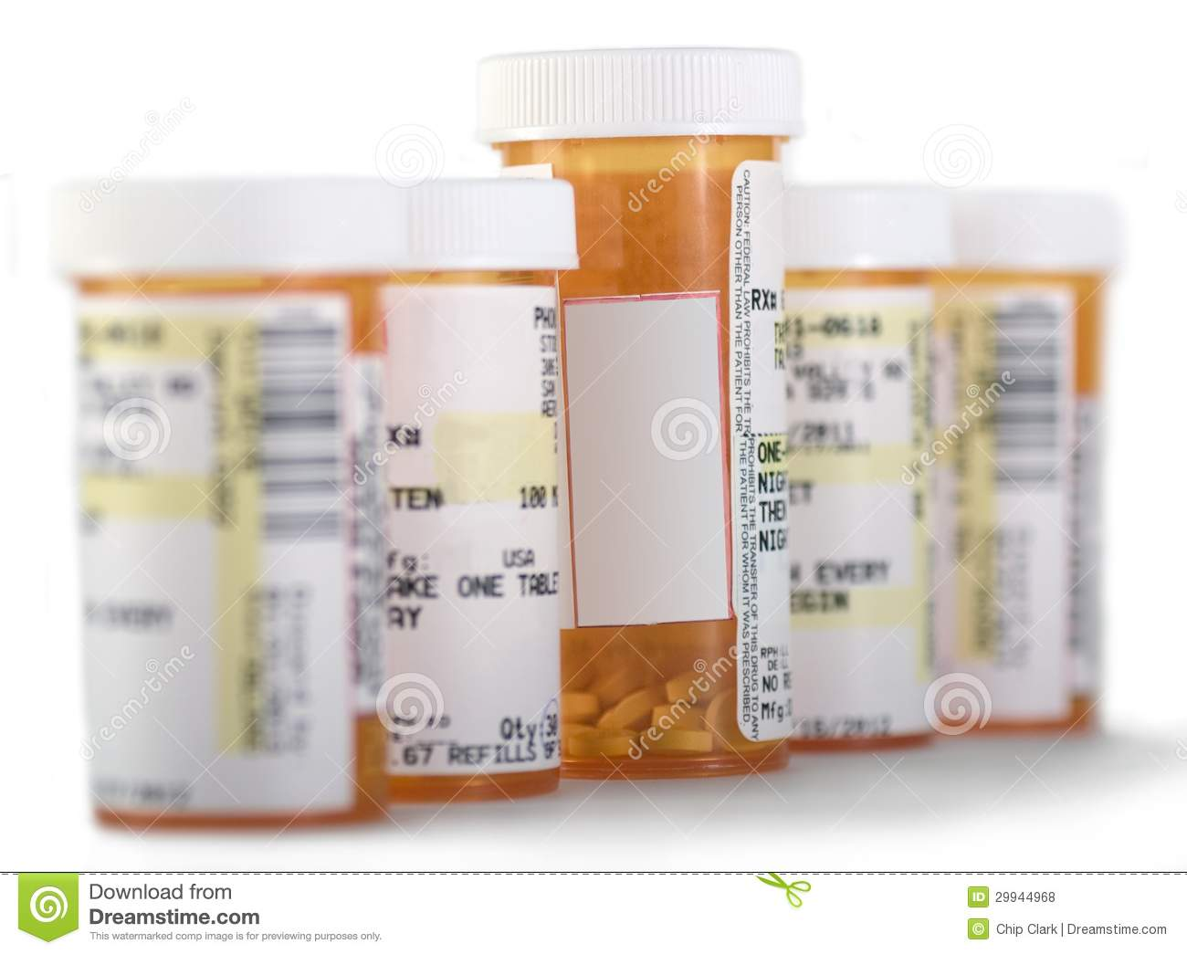 Medicine Bottles with Copy Space