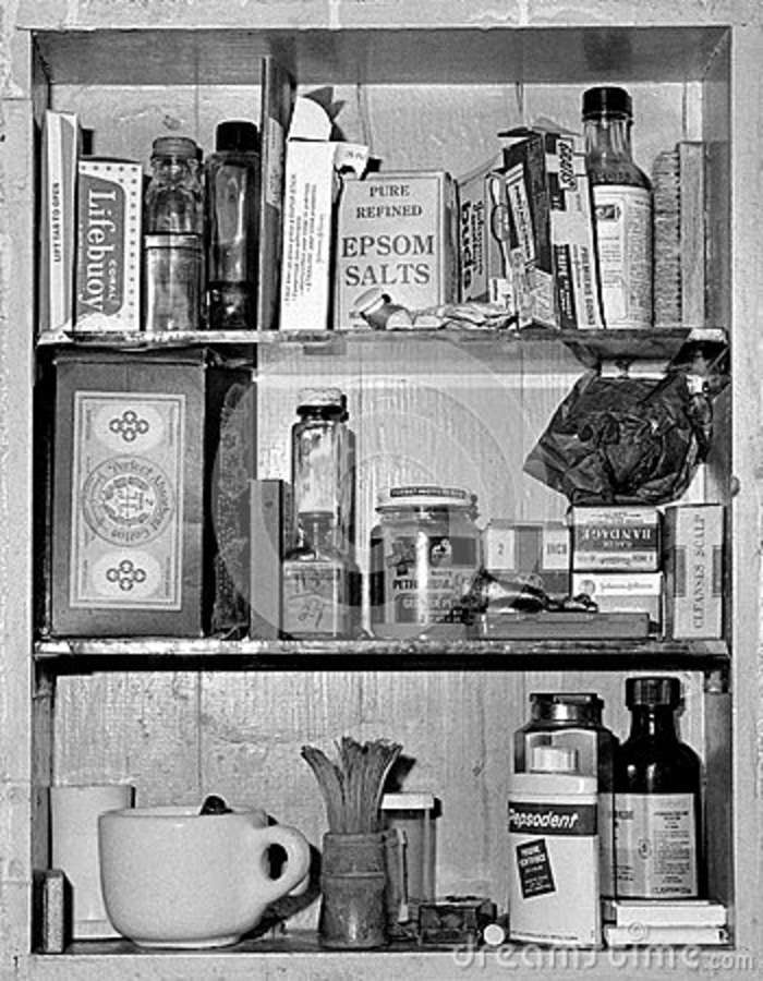 Download Antique Medicine Cabinet With Old Fashioned Medicines Editorial  Image   Image Of Antique, Date