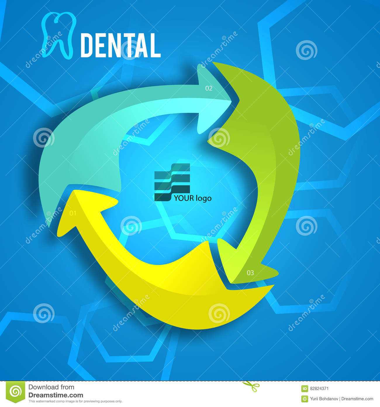 Medicine Dentistry Brochure Cover Page Report03 Stock Vector