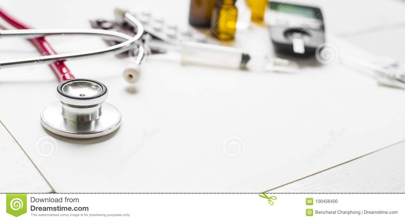 Medicine diabetes advertisement and health care concept